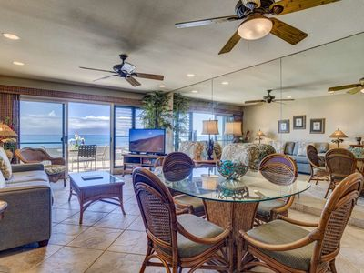Photo for Direct Beachfront with Sandy Beach plus Colorful Maui Sunsets = Perfect Vacation!  Kahana Sunset F8