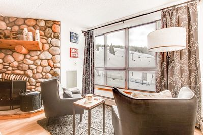 Living Area - Take in the breathtaking mountain views from the comfort of your own living area.