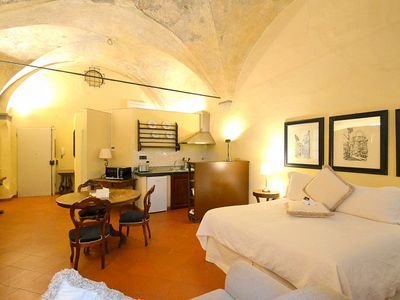 Photo for Appartamento Lapo B: A characteristic and welcoming studio apartment located in the historic center of Florence, at a short distance from Palazzo Pitti and from Ponte Vecchio (old bridge), with Free WI-FI.