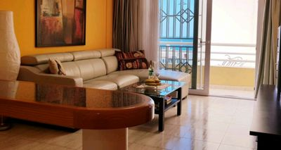 Photo for BEAUTIFUL APARTMENT 60m2, VIEW OF THE SEA, 1 BEDROOM, LIVING ROOM, KITCHEN, BATHROOM, BALCONY