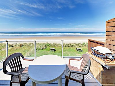 Balcony - Welcome to Rockaway Beach! Your oceanfront home is professionally managed by TurnKey Vacation Rentals.