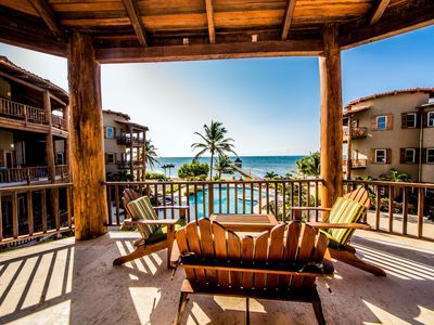 Photo for Indigo Belize - Beachfront Luxury Homes - 3 bedroom 3.5 bathroom w/ 2nd floor Reef View