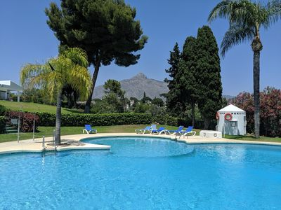 Photo for Marbella & Banus on your doorstep, but in a relaxed garden haven with fab views!