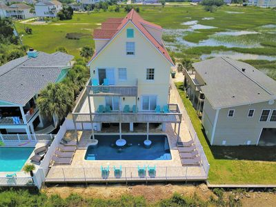 Photo for LUXURY RENTAL, DESIGNER DECOR, PRIVATE POOL, MARSH VIEW, WIFI, PET FRIENDLY