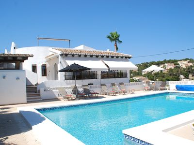 Photo for Holiday Villa in Baladrar Moraira--with heated pool, air cond, wifi.