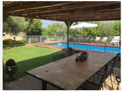 Photo for independently basement with garden and swimming pool at 1800mt from the sea.