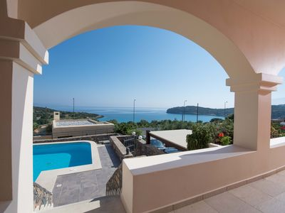 Photo for Sea Breeze Villa by Voulisma beach, at Istron Crete, accommodates max 7 adults.