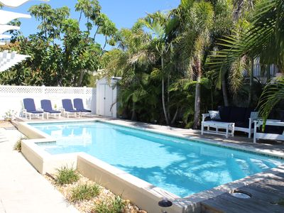 Photo for Charming Beach Home-w/large, Pool - Only 3 Houses from the Beach !!