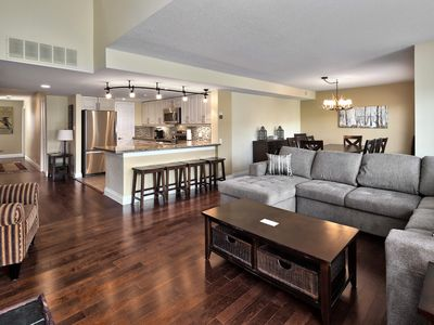 Photo for Large, luxurious, upper floor condo, steps to Blue Mountain Village...