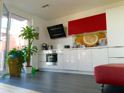 Photo for Apartment overlooking the Rhine, 125 sqm, 4 rooms, designer fittings