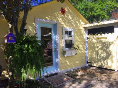 Cottage has beach locker with all you need for your day at close by Folly Beach!