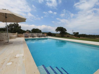 Photo for Luxury villa in a secluded location with stunning views, heated pool and spa, Rethymno
