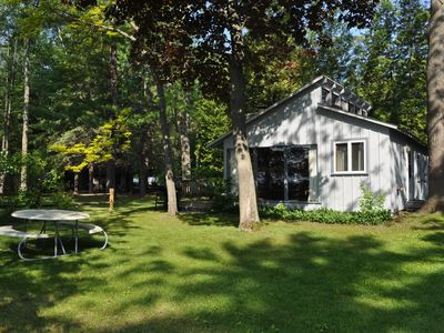 Photo for Beautiful lakeside villa on the pristine, sandy shore of Big Glen Lake!