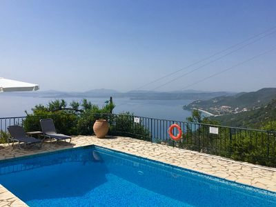 Photo for Villa Acantha - Beautifully Furnished with A/C, Private Pool and Stunning Sea Views from All Rooms and Terraces close to Nissaki - Free WiFi