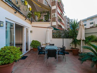 Photo for Sunny 3 Bed Apt in heart of Barcelona