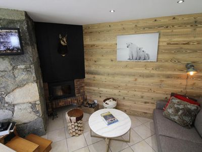 Photo for Surface area : about 45 m². Orientation : East, South-East. Living room with bed-settee, fireplace