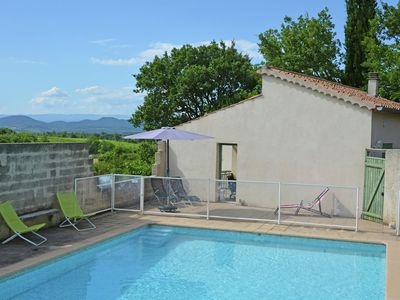 Photo for Villa with private heated pool, sauna, beautiful view over a valley