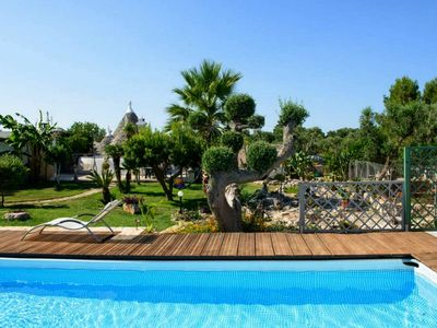 Photo for Southern Italian charm with pool - Trullo Suenn
