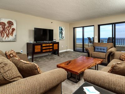 Photo for Surf Dweller 712: Phenomenal top floor, end unit, beach front, 2 bed/2 bath