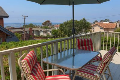 Large Ocean View deck allows for outdoor dining or just relaxing.