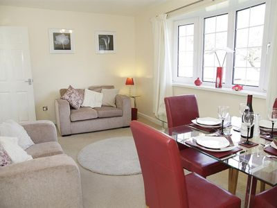 Photo for This cosy coastal chalet is in the Gower Holiday Village, a great family destination, just a five mi