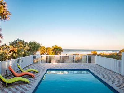 Photo for 5bd/4bth Oceanfront home with pool, perfect for groups in New Smyrna Beach