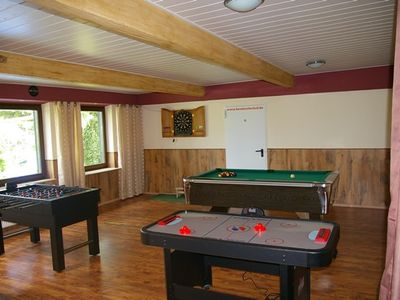 Photo for Apartment for 2 to 10 people with a common room with billiards, table football.