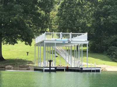 Serenity Cove private covered double deck dock