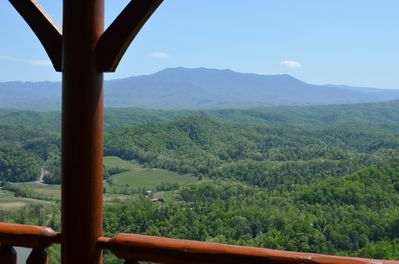 Spectacular view of Mt LeConte from the deck!