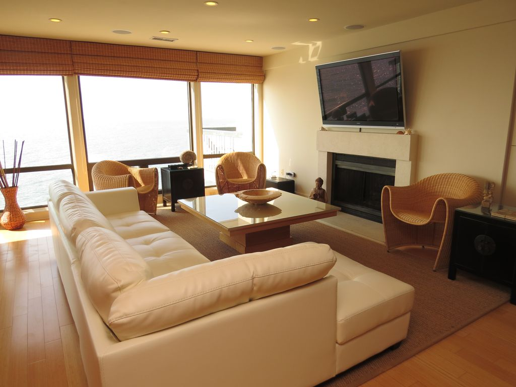 Isle of Palms condo rental   Living area. Stunning oceanfront condo   Contemporary Oceanfront Wild Dunes
