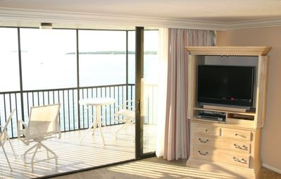 New HDTV/ DVD and Patio.  The Condo is a Large, 1400 sq. ft. Unit
