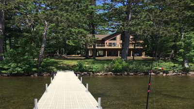 Photo for Grindstone Lake-No stairs to Lake!  Best Level Lakeshore on Lake!