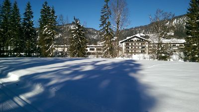Photo for Modern apartment directly on the Lofer Creek with a magnificent view of the Alps