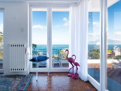 Photo for Sea view apartment in Sorrento center
