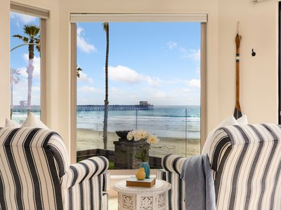 Photo for 3 Bedroom Lower Level Beachfront Condo in Oceanside Designer Decorated & A/C