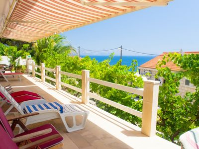 Photo for -20% OFFER! Entire floor, private terrace, 2 apartments - 40 meters from the sea