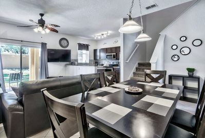 Open concept living / kitchen / dining areas