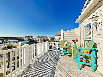 Main Balcony - Welcome to Surf City! This seaside townhome is professionally managed by TurnKey Vacation Rentals.