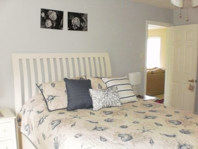 Bedroom 1, Master queen with separate bathroom. A very private space.