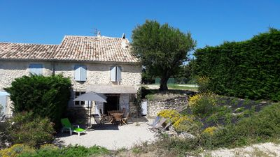 Photo for In Drôme Provençale, charming cottage in the middle of lavender, vineyards and truffle