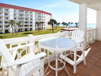 Photo for Beautiful Beachfront Condo, Ocean View, Granite & Stainless, Large HDTVs -em432