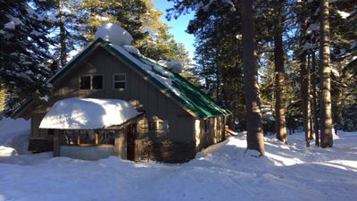 Cabin is located off a groomed snow road, 5-8 minutes from unloading area