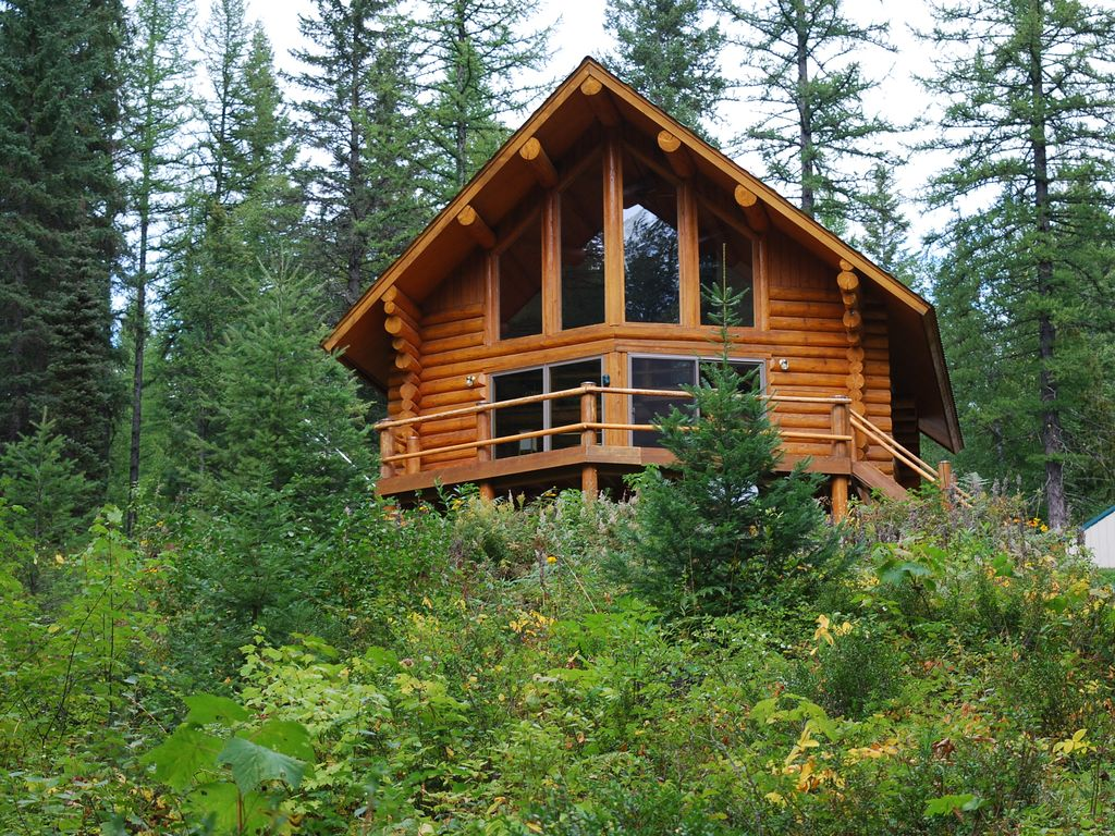 The log cabin experience near glacier national park and for Glacier national park cabin rentals
