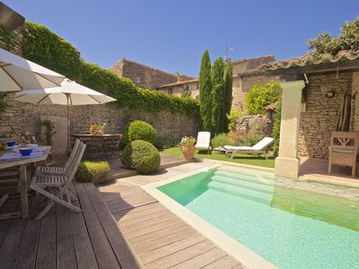 Photo for Provence Goult - Idyllic pool and roof terrace in stunning home, central Luberon