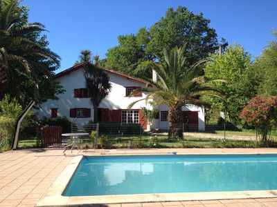Photo for Large house with large garden, pool, quiet, near beaches and Bayonne