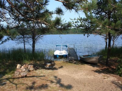 Photo for Secluded Lakefront Cottage On 14 Acres With Gorgeous Sunset Views!