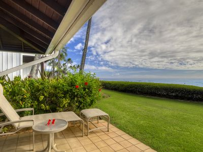 Photo for Kiahuna Plantation #197: Great Oceanfront Location and Views right on the BEACH!