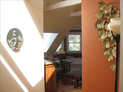 2 large skylights flood the apartment with natural light