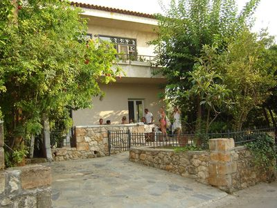 Photo for Minas Villa, Five separate bedrooms (5 baths) 1min walk from Stoupa beach