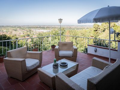 Photo for Apartment in Versilia surrounded by nature with panoramic terrace